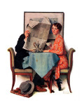 """Breakfast Table"" or ""Behind the Newspaper""  August 23 1930"