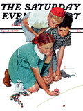 """""""Marble Champion"""" or """"Marbles Champ"""" Saturday Evening Post Cover  September 2 1939"""