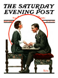 """Ouija Board"" Saturday Evening Post Cover  May 1 1920"