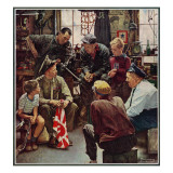 """Homecoming Marine"", October 13,1945 Giclée par Norman Rockwell"