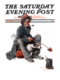 """""""Hobo"""" Saturday Evening Post Cover  October 18 1924"""