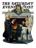 """Tea for Two"" or ""Tea Time"" Saturday Evening Post Cover  October 22 1927"