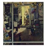 """Shuffleton's Barbershop"", April 29,1950 Giclée par Norman Rockwell"