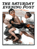 """No Swimming"" Saturday Evening Post Cover  June 4 1921"