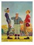 """""""Coin Toss"""", October 21,1950 Giclée par Norman Rockwell"""