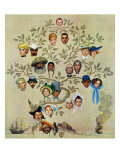 """Family Tree"", October 24,1959 Giclée par Norman Rockwell"