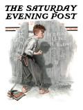"""Redhead Loves Hatti"" Saturday Evening Post Cover  September 16 1916"
