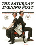 """Election Debate"" Saturday Evening Post Cover  October 9 1920"