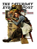 """""""Law Student"""" Saturday Evening Post Cover, February 19,1927 Giclée par Norman Rockwell"""