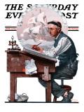 """""""Escape to Adventure"""" Saturday Evening Post Cover  June 7 1924"""