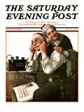 """Wonders of Radio"" or ""Listen  Ma!"" Saturday Evening Post Cover  May 20 1922"