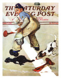 """""""Spilled Paint"""" Saturday Evening Post Cover  October 2 1937"""