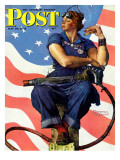 """Rosie the Riveter"" Saturday Evening Post Cover  May 29 1943"