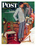 """Imperfect Fit"" Saturday Evening Post Cover  December 15 1945"