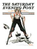 """Boy on Stilts"" Saturday Evening Post Cover  October 4 1919"