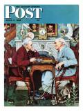 """""""April Fool  1943"""" Saturday Evening Post Cover  April 3 1943"""