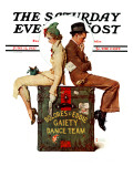 """""""Gaiety Dance Team"""" Saturday Evening Post Cover  June 12 1937"""