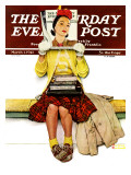 """Cover Girl"" Saturday Evening Post Cover  March 1 1941"