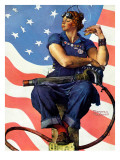 """Rosie the Riveter"", May 29,1943 Giclée par Norman Rockwell"