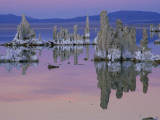 Tufa Towers Rise Out of Mono Lake in California at Sunset