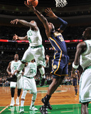 Indiana Pacers v Boston Celtics: Roy Hibbert and Nate Robinson