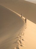 Teenagers Walk on the Mesquite Dunes Near Stovepipe Wells