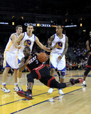 Miami Heat v Golden State Warriors: Dwayne Wade  Lou Amundson and Monta Ellis