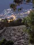 Ancient Celtic Santa Tecla Looks Down on the Modern City of a Garda