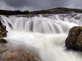 Heavy Rains Swell a Waterfall on the Isle of Harris