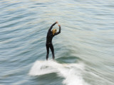 A Surfer at Refugio Point
