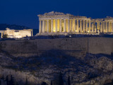 The Parthenon and Erechtheion (Left) at Night