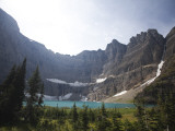 A Landscape Image of Iceberg Lake on a Sunny Day in Montana