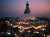 10 000 Butterlamps at the Bodnath Stupa