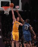 Washington Wizards v Los Angeles Lakers: Pau Gasol and Kevin Seraphin