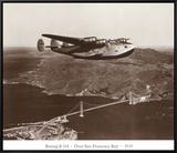 Boeing B-314 over San Francisco Bay  California 1939