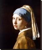 La jeune fille à la perle, vers1665 Tableau sur toile par Johannes Vermeer