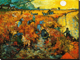 Le vignoble rouge, vers 1888 Tableau sur toile par Vincent Van Gogh
