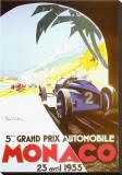 5ème Grand Prix Automobile, Monaco, 1933 Tableau sur toile par Geo Ham