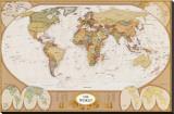 Carte ancienne du monde Tableau sur toile