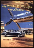 Fly the Rolls Royce way to London  1953