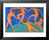 La danse Reproduction laminée et encadrée par Henri Matisse