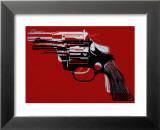 Pistolets, vers 1981-82 Reproduction laminée et encadrée par Andy Warhol