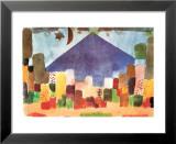 Notte Egiziana Reproduction laminée et encadrée par Paul Klee