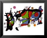 Œuvre Reproduction laminée et encadrée par Joan Miró