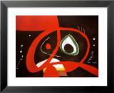 Kopf Reproduction laminée et encadrée par Joan Miró