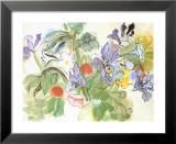 Coquelicots Et Iris Reproduction laminée et encadrée par Raoul Dufy