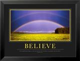 Croire, en anglais Reproduction laminée et encadrée