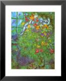 Le Bouquet Ardent Reproduction laminée et encadrée par Marc Chagall