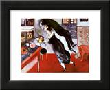 Anniversaire Reproduction laminée et encadrée par Marc Chagall