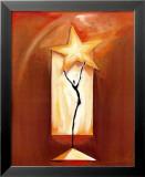 Danse de l'étoile Reproduction laminée et encadrée par Alfred Gockel